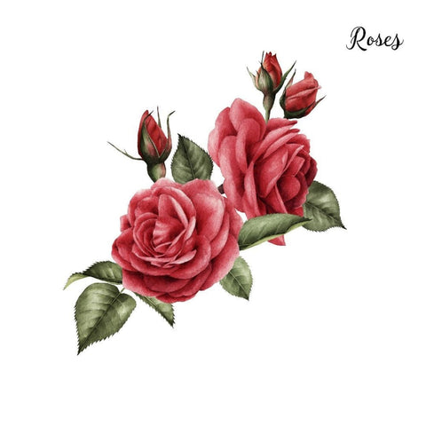 Red Roses - Temporary Tattoo
