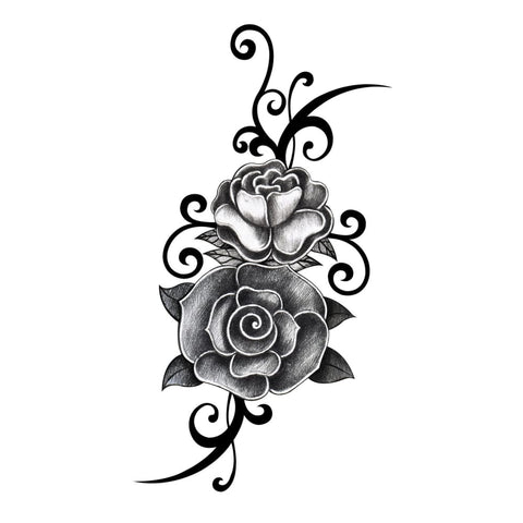 Rose Vine - Temporary Tattoo