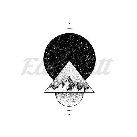 Space Shapes - By C.kritzelt - Temporary Tattoo