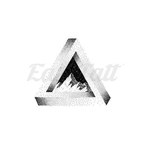 Triangle Mountain - By C.kritzelt - Temporary Tattoo