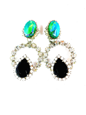 Emerald Enigma Earrings