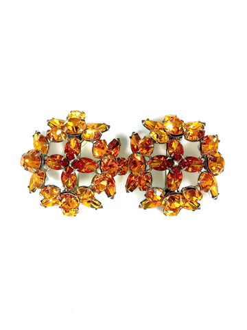 Topaz Dome Earrings