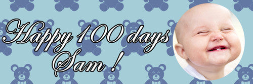 100 Days Teddy Banner