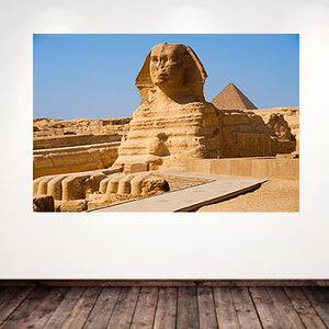 Sphinx with the Pyramid of Menkaure