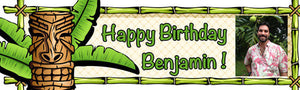 Tiki Birthday Banner