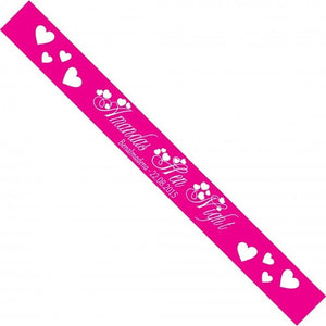 Hearts Personalised Hen Party Sash
