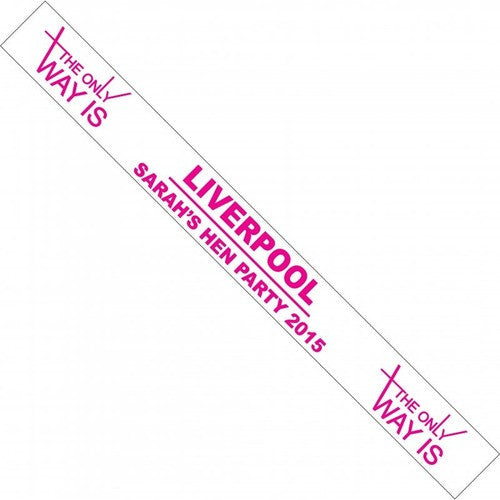 TOWIE Personalised Hen Party Sash