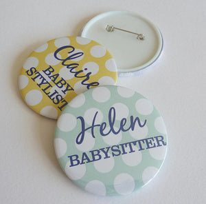 Baby Shower Spotty Badge (10 pcs)