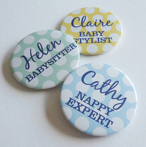 Baby Shower Spotty Badge