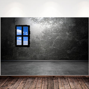 Dark Room Interior with Window Scene Setter