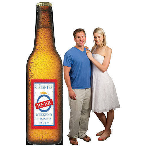 Personalized Beer Bottle Standee