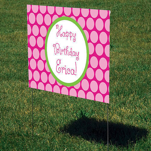 Tonal Polka Dots Personalized Sign