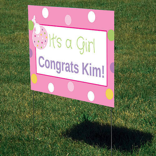 Baby Girl Delivery Personalized Signs