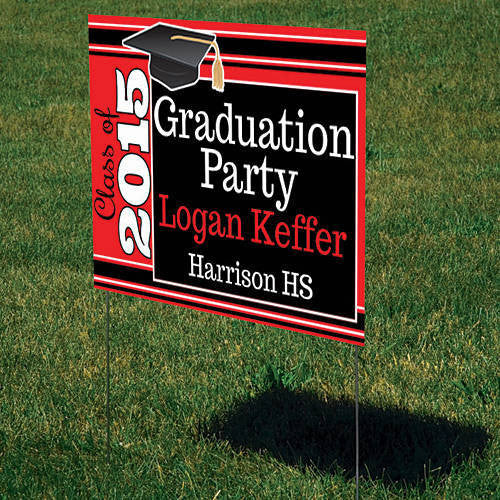 Grad Cap Personalized Sign