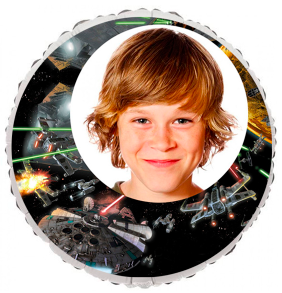 Personalized Star Wars Photo Balloon 23""