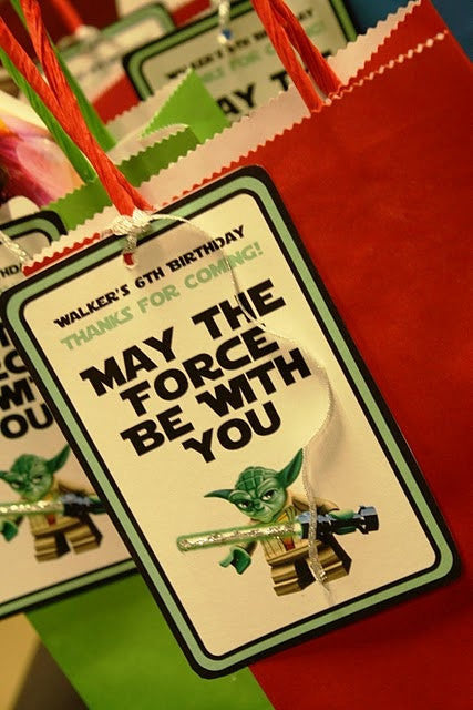 Personalized Star Wars Party Gift Bag And Tag