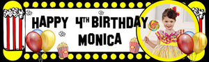 My Popcorn Birthday Banner