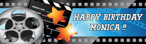 Filmstrip Birthday Banner (Blue)