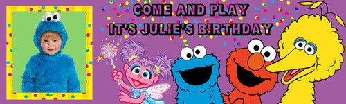 Come and Play Birthday Banner