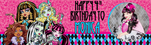 Monster High Pink Banner