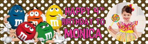 My M & M Birthday Banner