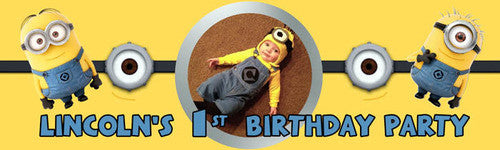 My First Minions Birthday Banner