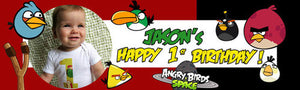 My First Angry Bird Birthday Banner