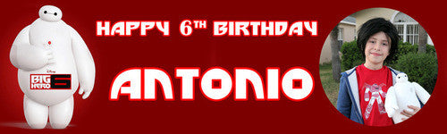 Baymax Birthday Banner
