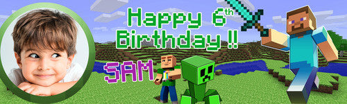 My Mincraft Birthday Banner