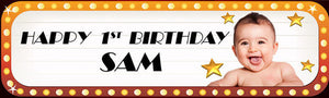 Hollywood Happy Birthday Banner