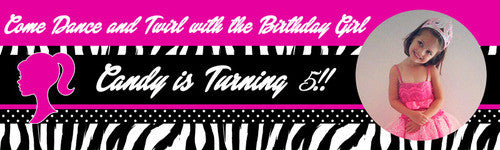 Classic Barbie Birthday Banner