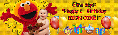 My First Elmo Birthday Banner
