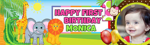My First Jungle Birthday Banner