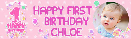 My Little Star First Birthday Banner