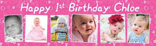 My Happy First Birthday Banner
