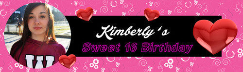 Sweet 16th Birthday Banner