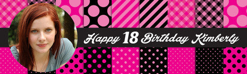 Happy 18th Birthday Banner