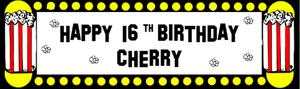 Sweet Popcorn Birthday Banner