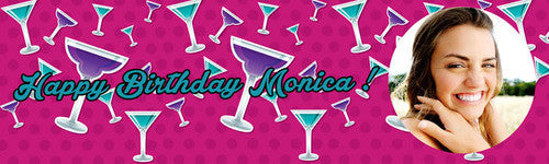 Cocktail Birthday Banner