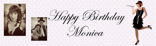 Flapper Birthday Banner