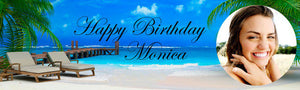 Beach Birthday Banner