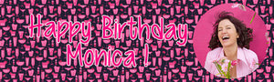 Pink Cocktail Birthday Banner