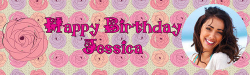 Rose Birthday Banner
