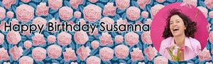 Blossoming Rose Birthday Banner