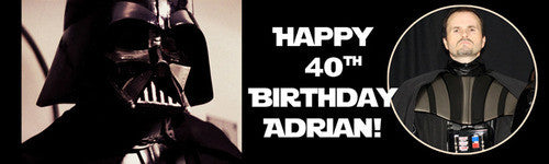 Darth Vader Birthday Banner