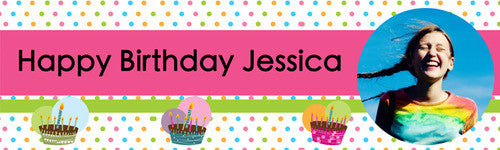 Colorful Dots Birthday Banner