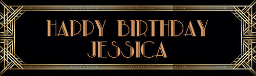 Gatsby Birthday Banner