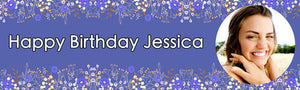Flower Birthday Banner