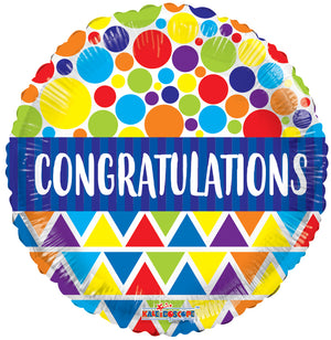 15841-18-18-inches-Congratulations-Dots-and-Triangles-Foil-balloons