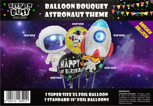 Astronaut and Rocket Balloons (Pack of 5)